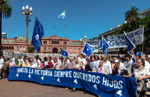 Las Madres de la Plaza de Mayo on their regular Thursday demonstration.