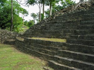 Photo of stone structure with long terraced steps.